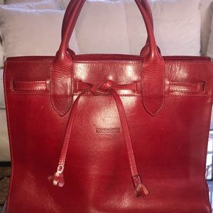 Vintage Dooney & Bourke Red Tote - Made in Italy